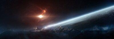 Фотообои на потолок Космический сюжет