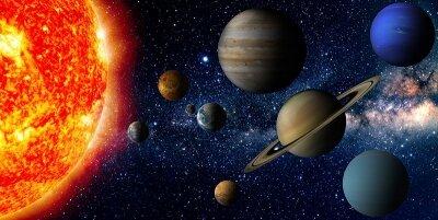 Фотообои на потолок Солнечная система