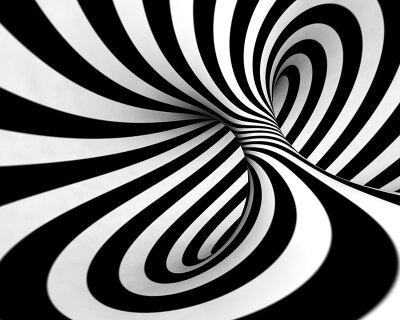 Фотообои на потолок Черно-белая иллюзия