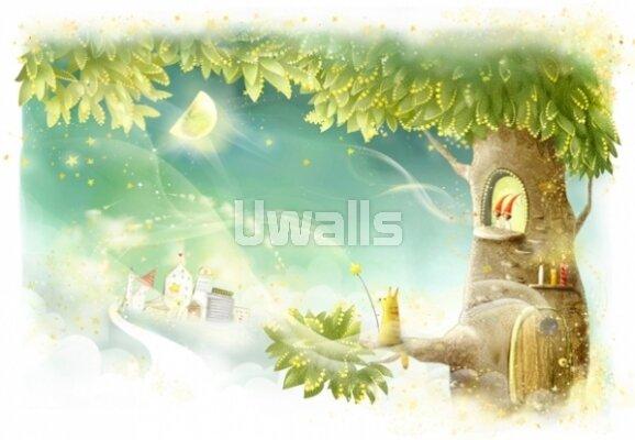 Детские фотообои Волшебное дерево