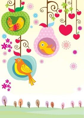 Фотообои Сказочные птички