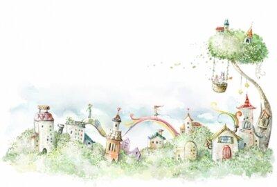 Детские фотообои чудесные пряничные домики