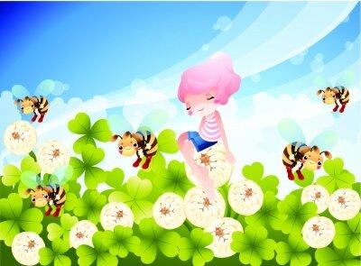 фотообои Пчелы на цветах
