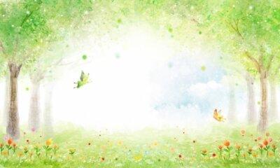 Фотообои для детской комнаты сказочная поляна с феями