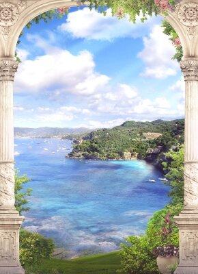 фотообои фрески Арка и море