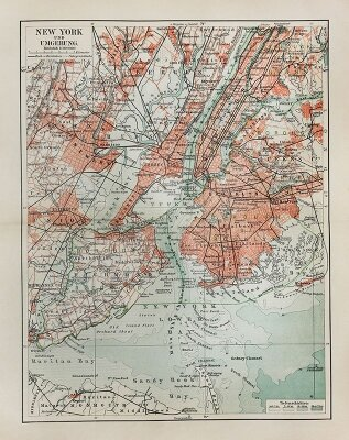 Схема улиц Нью-Йорка