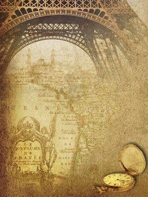 Винтажная карта Прарижа