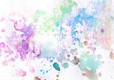 Фотообои разноцветные брызги на белом фоне