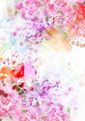 Фотообои розовые брызги