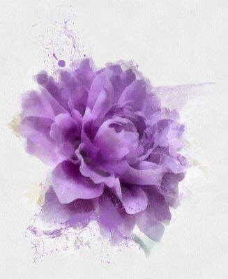 Фотообои сиреневый цветок