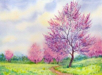 Фотообои розовые деревья