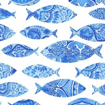 Фотообои голубые рыбки