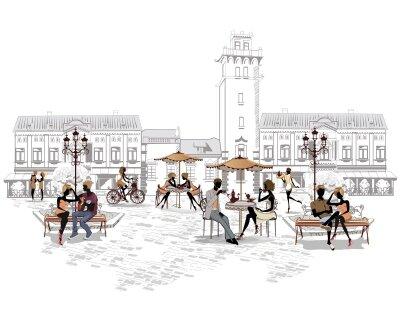 Фотообои Столики на улице