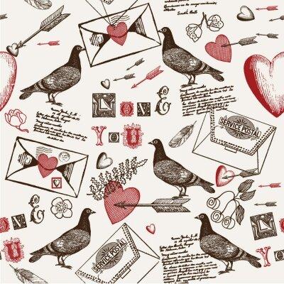 Фотообои Голуби и письма