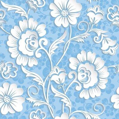 Фотообои цветы на голубоим фоне
