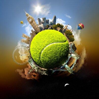 Креативные фотообои Теннисный мяч