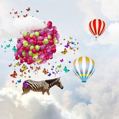 Креативные фотообои Воздушные шары