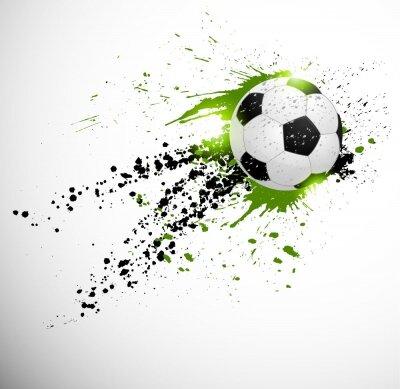 Креативные фотообои Мяч и брызги красок