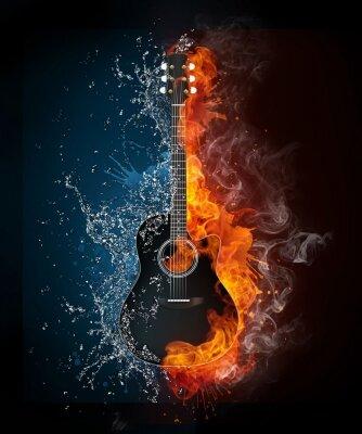 Креативные фотообои гитара