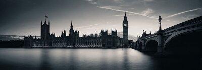 Черно-белые фотообои Панорама Лондона