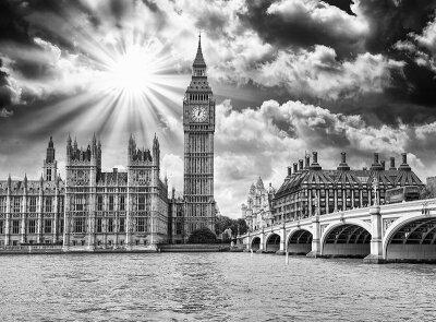 Черно-белые фотообои Лондонская панорама