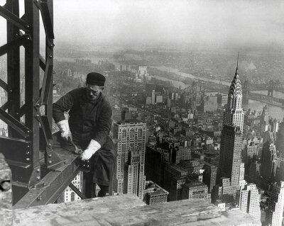 Черно-белые фотообои Панорама Нью-Йорка