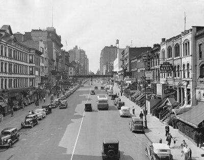 Черно-белые фотообои Ретро фото города