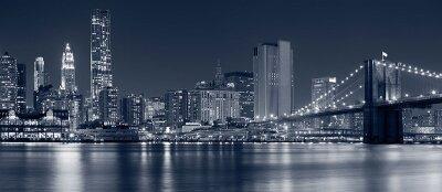 Черно-белые фотообои «Ночной город»