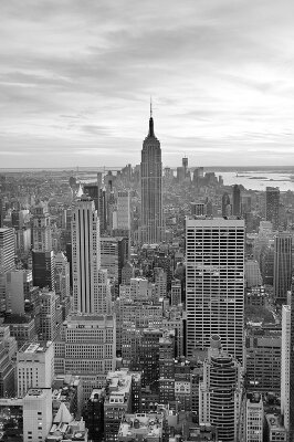 Черно-белые фотообои Небоскреб