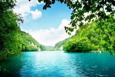 Фотообои с природой речной пейзаж