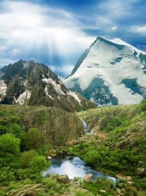 путь к снежным горам