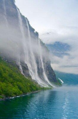 Фотообои с природой горный водопад