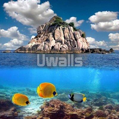 3д фотообои остров посреди моря