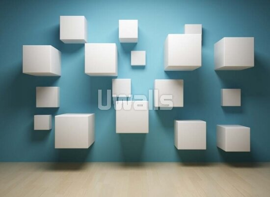3д фотообои фотообои с объемными кубиками