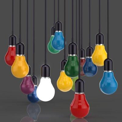 Фотообои цветные лампочки