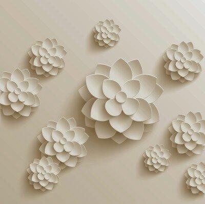 Фотообои Большой белый цветок