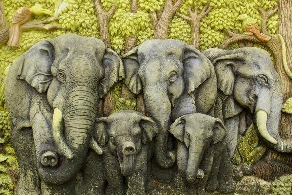 Фотообои 3д слоны