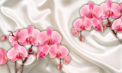 Фотообои орхидеи на атласе