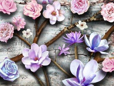 Фотообои Цветы,абстракция