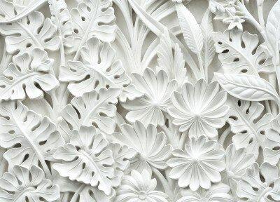 Фотообои Белые листья