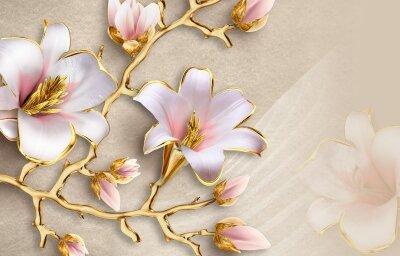 Фотообои Ветка лилий