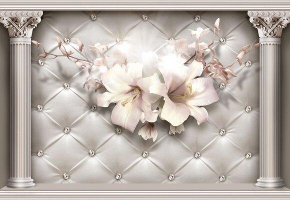 Фотообои Лилии на стене