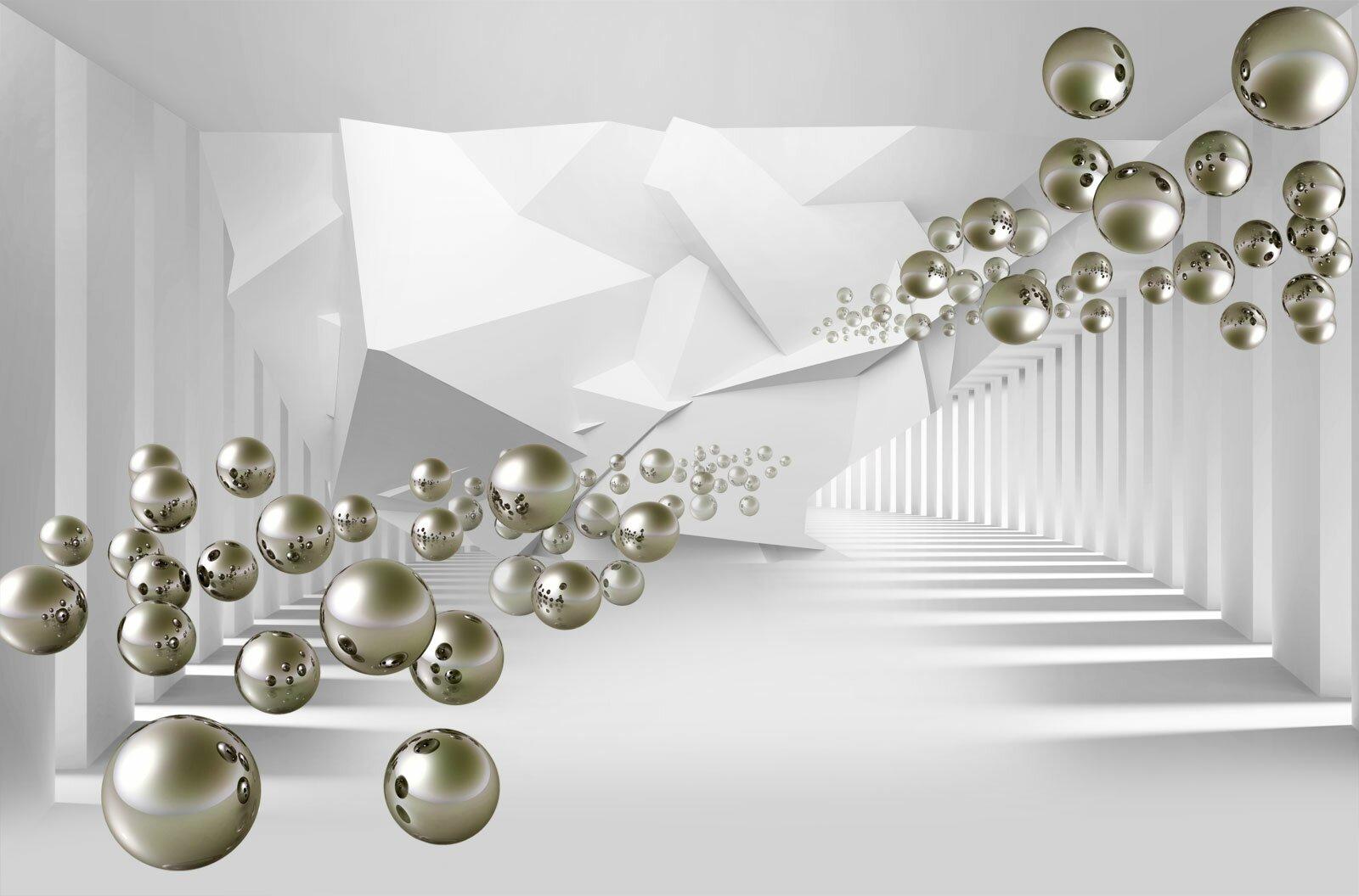 Фотообои Серебряные шары