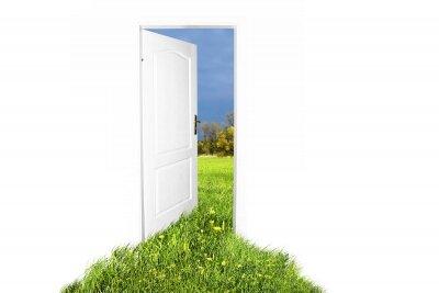 Интерьеры двери на природу