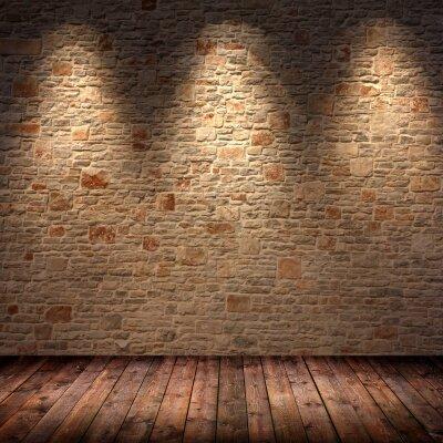 Интерьеры каменная стена