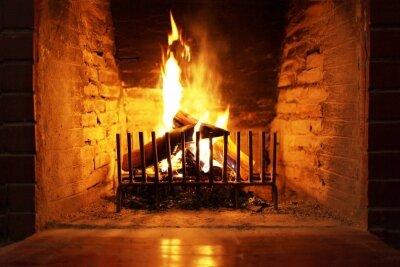Интерьеры,камин пламя