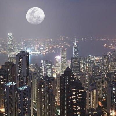 Фотообои Ночь в Гонконге