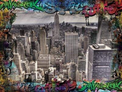 Фотообои Нью Йорк граффити город
