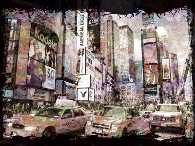 Фотообои город машины улица
