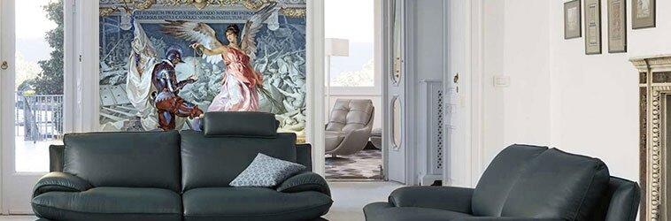 фотообои с фресками в интерьере
